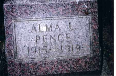 PENCE, ALMA L - Shelby County, Ohio | ALMA L PENCE - Ohio Gravestone Photos