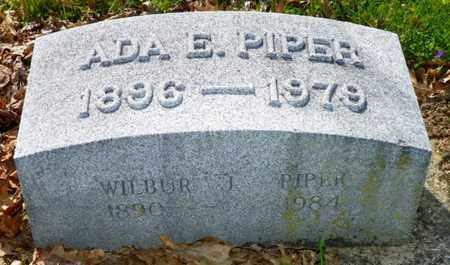 PIPER, ADA E. - Shelby County, Ohio | ADA E. PIPER - Ohio Gravestone Photos