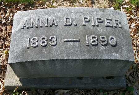 PIPER, ANNA D. - Shelby County, Ohio   ANNA D. PIPER - Ohio Gravestone Photos