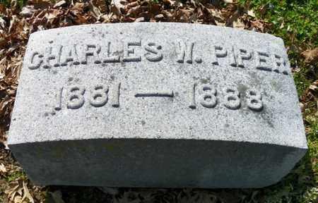 PIPER, CHARLES W. - Shelby County, Ohio | CHARLES W. PIPER - Ohio Gravestone Photos