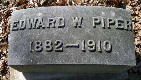 PIPER, EDWARD W. - Shelby County, Ohio   EDWARD W. PIPER - Ohio Gravestone Photos