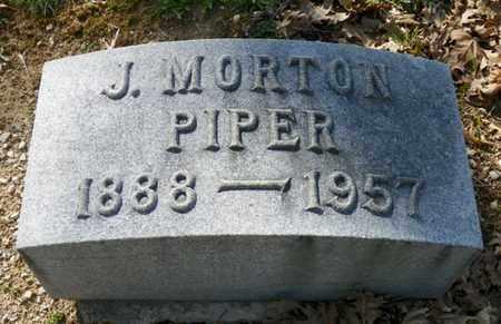 PIPER, J. MORTON - Shelby County, Ohio   J. MORTON PIPER - Ohio Gravestone Photos