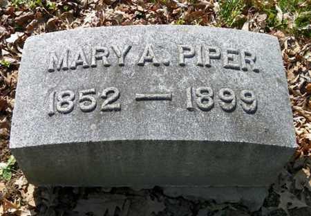 PIPER, MARY A. - Shelby County, Ohio | MARY A. PIPER - Ohio Gravestone Photos