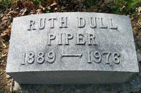 DULL PIPER, RUTH - Shelby County, Ohio | RUTH DULL PIPER - Ohio Gravestone Photos