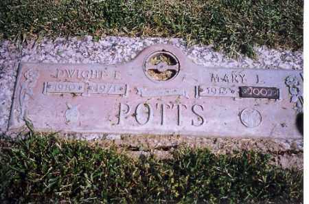 POTTS, DWIGHT E - Shelby County, Ohio | DWIGHT E POTTS - Ohio Gravestone Photos