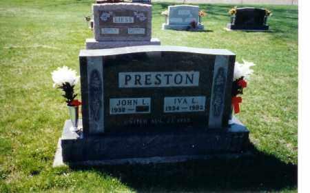STENGEL PRESTON, IVA L - Shelby County, Ohio | IVA L STENGEL PRESTON - Ohio Gravestone Photos
