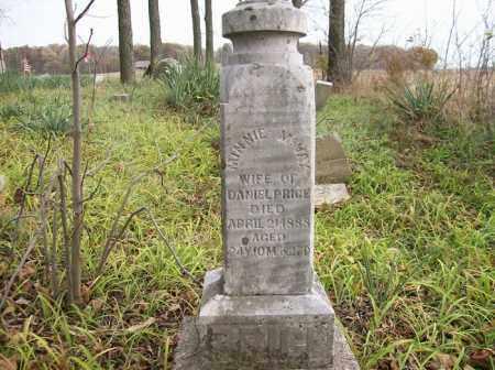 PRICE, MINNIE MCVAY - Shelby County, Ohio   MINNIE MCVAY PRICE - Ohio Gravestone Photos