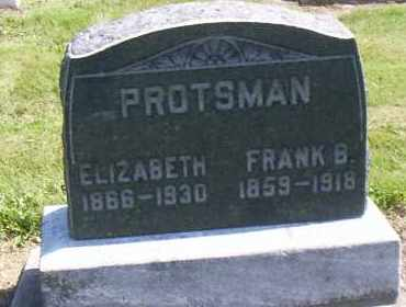 PROTSMAN, ELIZABETH - Shelby County, Ohio | ELIZABETH PROTSMAN - Ohio Gravestone Photos