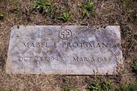 PROTSMAN, MABEL L. - Shelby County, Ohio   MABEL L. PROTSMAN - Ohio Gravestone Photos