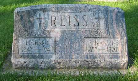 REISS, ELIZABETH - Shelby County, Ohio | ELIZABETH REISS - Ohio Gravestone Photos
