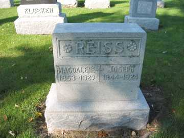 REISS, MAGDALENE - Shelby County, Ohio | MAGDALENE REISS - Ohio Gravestone Photos