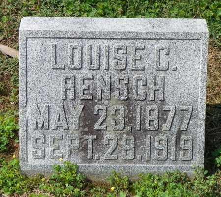 RENSCH, LOUISE C. - Shelby County, Ohio | LOUISE C. RENSCH - Ohio Gravestone Photos