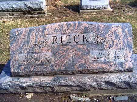 RIECK, LOUIS E. - Shelby County, Ohio | LOUIS E. RIECK - Ohio Gravestone Photos