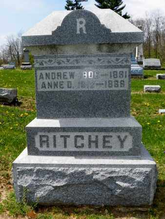 RITCHEY, ANDREW - Shelby County, Ohio | ANDREW RITCHEY - Ohio Gravestone Photos