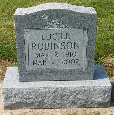 ROBINSON, LUCILE - Shelby County, Ohio | LUCILE ROBINSON - Ohio Gravestone Photos