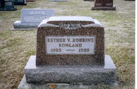 ROWLAND, ESTHER V. - Shelby County, Ohio | ESTHER V. ROWLAND - Ohio Gravestone Photos
