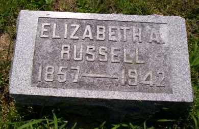 RUSSELL, ELIZABETH A. - Shelby County, Ohio | ELIZABETH A. RUSSELL - Ohio Gravestone Photos