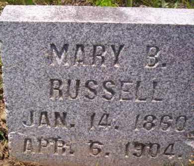 RUSSELL, MARY B. - Shelby County, Ohio | MARY B. RUSSELL - Ohio Gravestone Photos