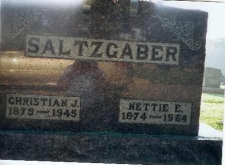 SALTZGABER, NETTIE - Shelby County, Ohio   NETTIE SALTZGABER - Ohio Gravestone Photos