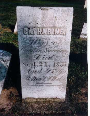 SAUNDERS, CATHARINE - Shelby County, Ohio | CATHARINE SAUNDERS - Ohio Gravestone Photos