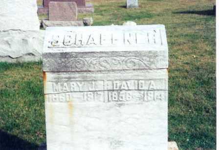 BENNETT SCHAFFNER, MARY JANE - Shelby County, Ohio | MARY JANE BENNETT SCHAFFNER - Ohio Gravestone Photos
