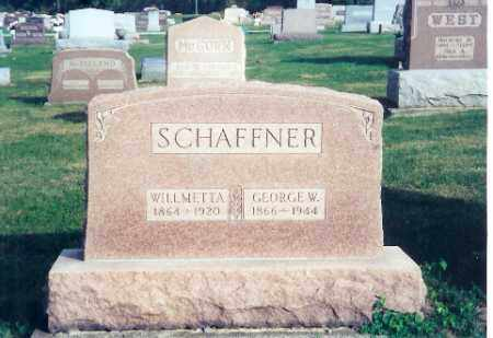 SCHAFFNER, GEORGE W. - Shelby County, Ohio | GEORGE W. SCHAFFNER - Ohio Gravestone Photos