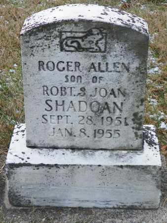 SHADOAN, ROGER ALLEN - Shelby County, Ohio   ROGER ALLEN SHADOAN - Ohio Gravestone Photos