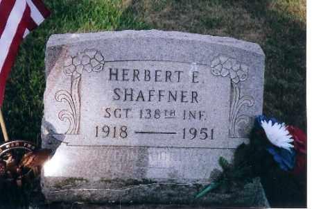 SHAFFNER, HERBERT E. - Shelby County, Ohio | HERBERT E. SHAFFNER - Ohio Gravestone Photos