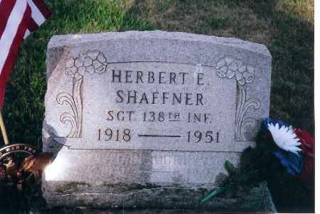 SHAFFNER, HERBERT E - Shelby County, Ohio | HERBERT E SHAFFNER - Ohio Gravestone Photos