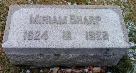SHARP, MIRIAM - Shelby County, Ohio | MIRIAM SHARP - Ohio Gravestone Photos