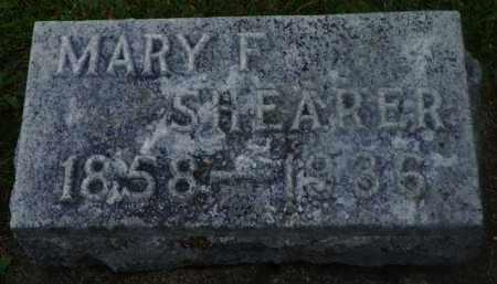SHEARER, MARY F. - Shelby County, Ohio   MARY F. SHEARER - Ohio Gravestone Photos