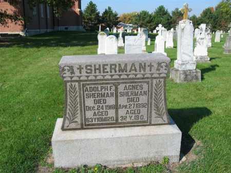 SHERMAN, AGNES - Shelby County, Ohio   AGNES SHERMAN - Ohio Gravestone Photos