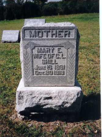 SHILL, MARY E - Shelby County, Ohio | MARY E SHILL - Ohio Gravestone Photos