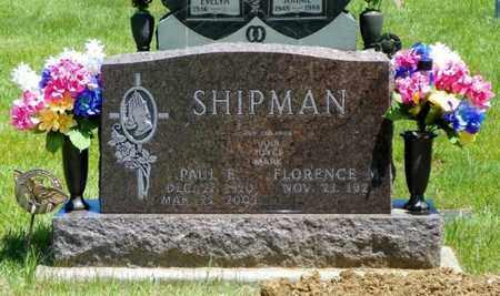SHIPMAN, FLORENCE M. - Shelby County, Ohio | FLORENCE M. SHIPMAN - Ohio Gravestone Photos