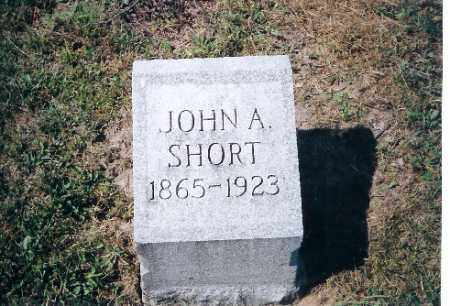SHORT, JOHN A - Shelby County, Ohio | JOHN A SHORT - Ohio Gravestone Photos