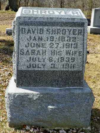 SHROYER, DAVID - Shelby County, Ohio | DAVID SHROYER - Ohio Gravestone Photos