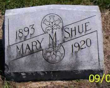 SHUE, MARY M. - Shelby County, Ohio | MARY M. SHUE - Ohio Gravestone Photos