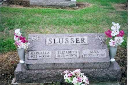 SLUSSER SR., ALVA - Shelby County, Ohio   ALVA SLUSSER SR. - Ohio Gravestone Photos
