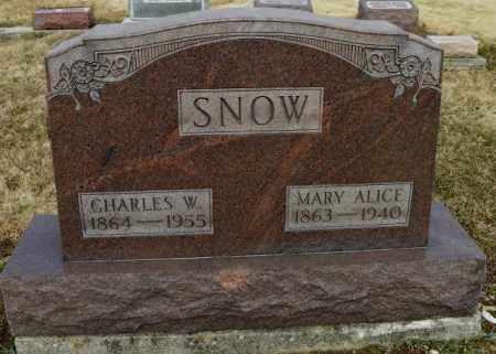 SNOW, MARY ALICE - Shelby County, Ohio | MARY ALICE SNOW - Ohio Gravestone Photos