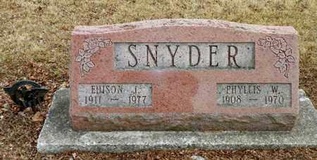 SNYDER, PHYLLIS W. - Shelby County, Ohio | PHYLLIS W. SNYDER - Ohio Gravestone Photos