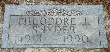SNYDER, THEODORE J. - Shelby County, Ohio   THEODORE J. SNYDER - Ohio Gravestone Photos