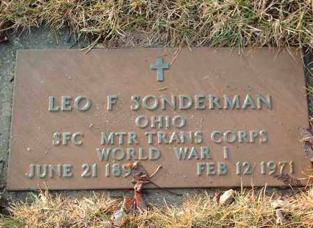 SONDERMAN, LEO F - Shelby County, Ohio | LEO F SONDERMAN - Ohio Gravestone Photos