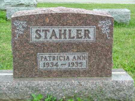 STAHLER, PATRICIA ANN - Shelby County, Ohio   PATRICIA ANN STAHLER - Ohio Gravestone Photos