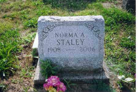 STALEY, NORMA A - Shelby County, Ohio   NORMA A STALEY - Ohio Gravestone Photos
