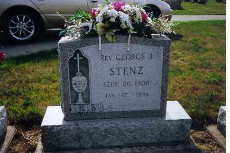 STENZ, REV GEORGE - Shelby County, Ohio   REV GEORGE STENZ - Ohio Gravestone Photos