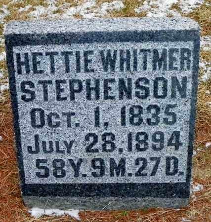 WHITMER STEPHENSON, HETTIE - Shelby County, Ohio | HETTIE WHITMER STEPHENSON - Ohio Gravestone Photos