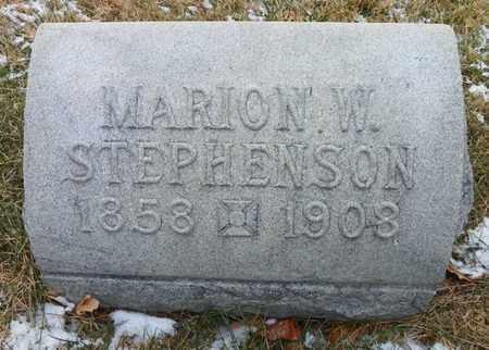 STEPHENSON, MARION W. - Shelby County, Ohio | MARION W. STEPHENSON - Ohio Gravestone Photos