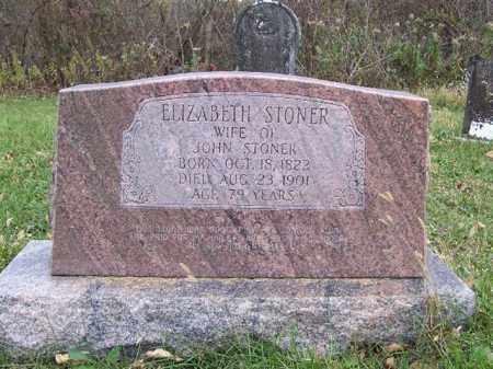 STONER, ELIZABETH - Shelby County, Ohio   ELIZABETH STONER - Ohio Gravestone Photos