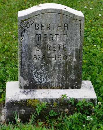 STRETE, BERTHA MARTIN - Shelby County, Ohio | BERTHA MARTIN STRETE - Ohio Gravestone Photos