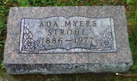MYERS STROHL, ADA - Shelby County, Ohio | ADA MYERS STROHL - Ohio Gravestone Photos